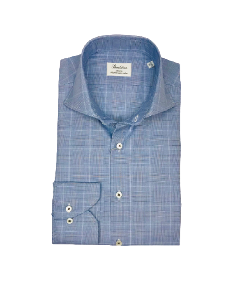Stenstroms Stenstroms Blue Checked Slimline Shirt