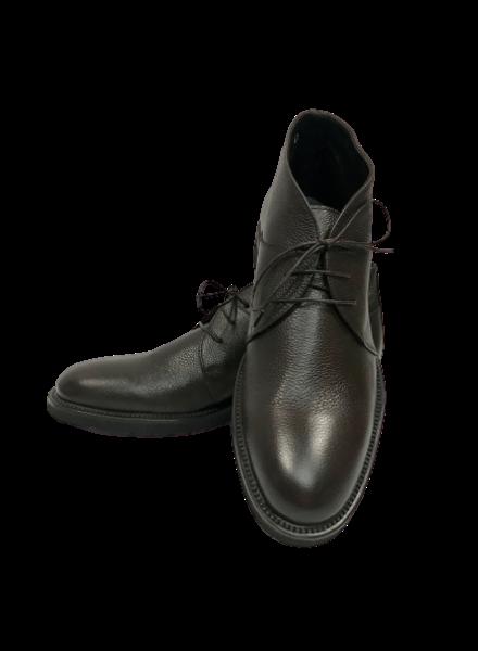 006 Short Pebble Grain Leather Boots