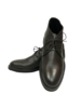 Alberto Lanciotti 006 Short Pebble Grain Leather Boots