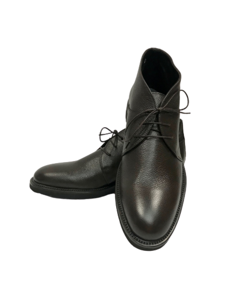 Alberto Lanciotti Alberto Lanciotti 006 Short Pebble Grain Leather Boots