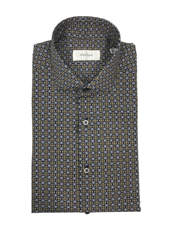 Brown Medallion Print Shirt