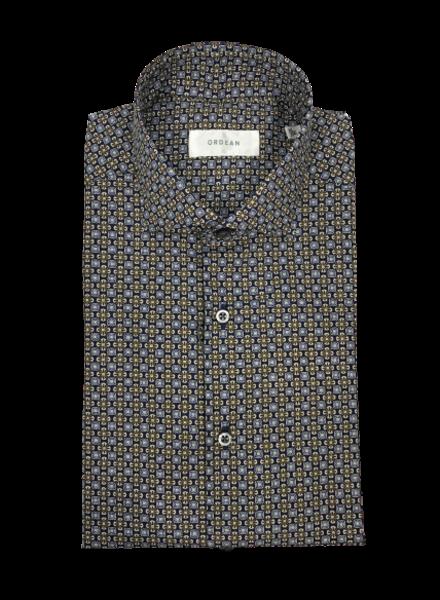 Ordean Brown Medallion Print Shirt