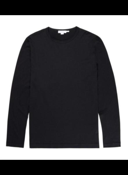 Sunspel Cotton Long Sleeve T-Shirt