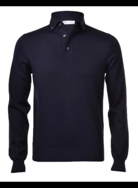 Gran Sasso Extra-Fine Merinos Wool Polo Sweater