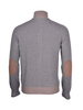 Gran Sasso Gran Sasso Full Zip Sweater With Alcantara Profiles and Patches