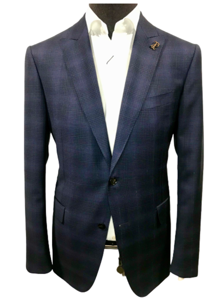 Pal Zileri Glen Check Sport Jacket with Red Windowpane