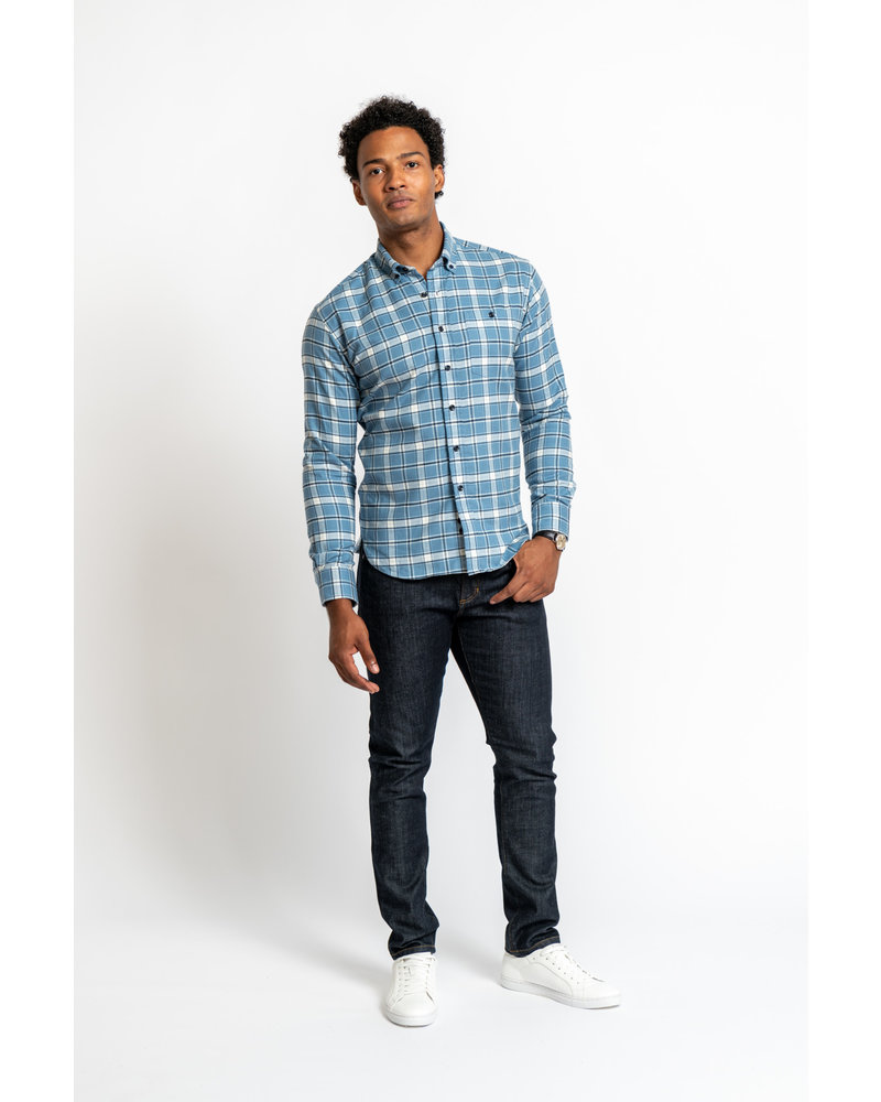 Kovalum Botton-Down Plaid Shirt