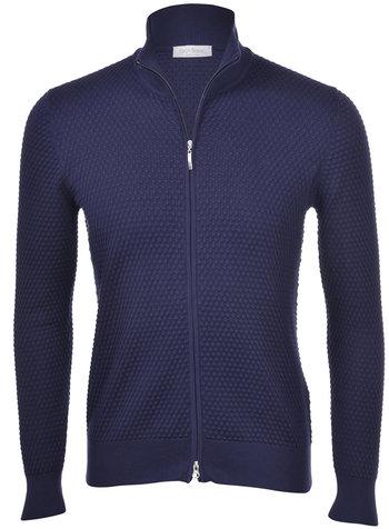 Gran Sasso Full Zip PopCorn Sweater