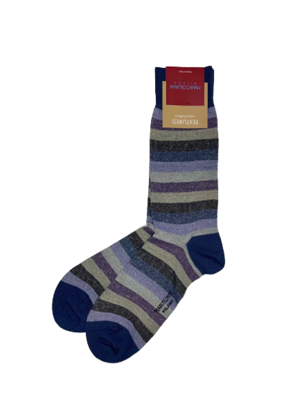Marcoliani Pima Cotton Socks - Tonal Stripe