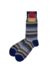 Marcoliani Marcoliani Pima Cotton Socks - Tonal Stripe