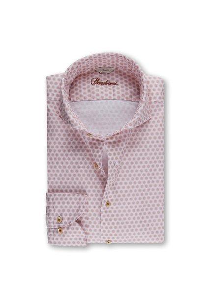 Stenstroms Casual Slimline Oxford Shirt Red Pattern