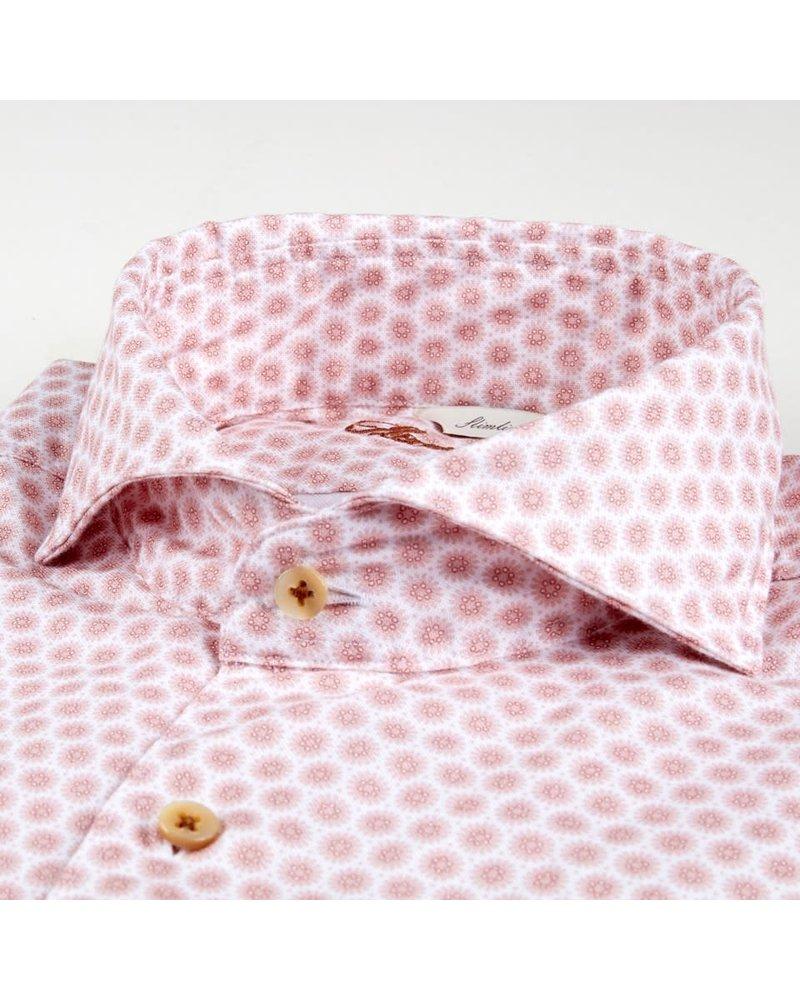 Stenstroms Stenstroms Casual Slimline Oxford Shirt Red Pattern