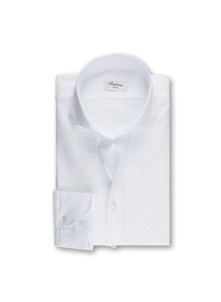 Stenstroms Extra Fine Seersucker Slimline Shirt White
