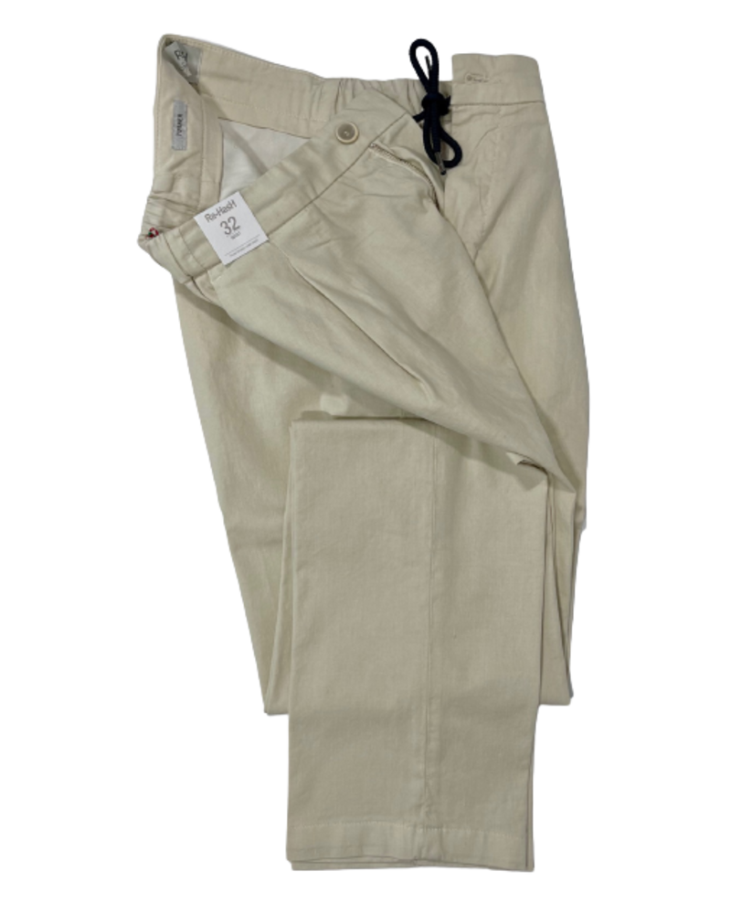 Re-Hash Re-Hash Drawstring Single Pleat Linen Blend Pants