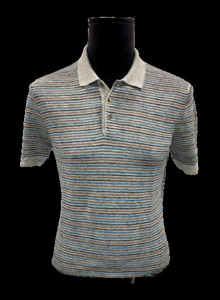 Gran Sasso Linen Stripe Polo