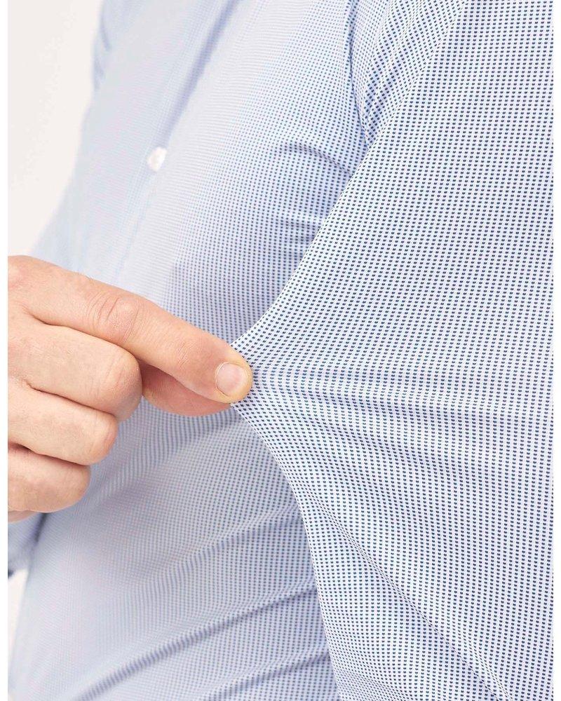 Xacus Xacus Blue Textured Active Shirt