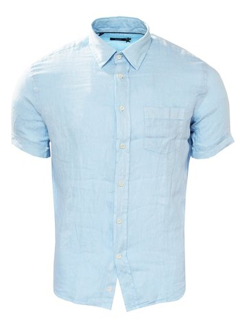 Benson Short Sleeved Linen Shirt