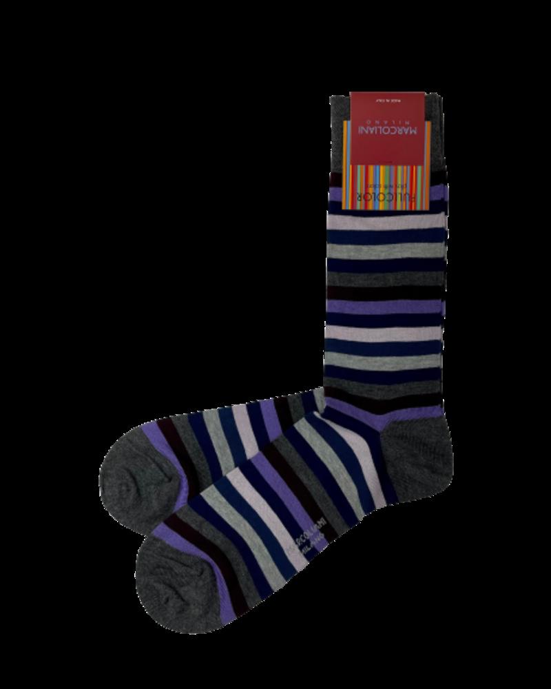Marcoliani Marcoliani Pima Cotton Socks - Rainbow Stripe