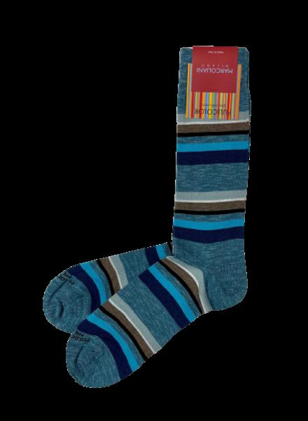 Marcoliani Pima Cotton Socks - Eclectic Stripe