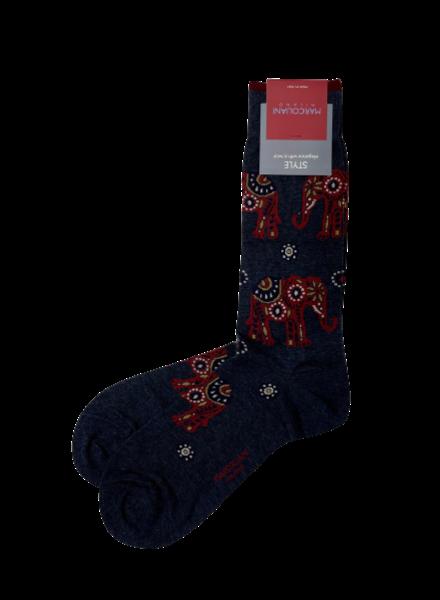 Marcoliani Pima Cotton Socks - Elephant