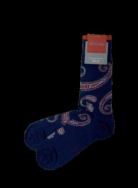 Marcoliani Pima Cotton Socks - Delhi Paisley