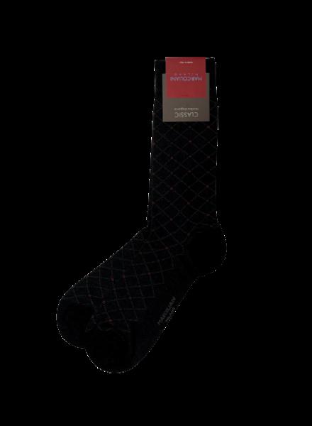 Marcoliani Pima Cotton Socks - Micro Argyle