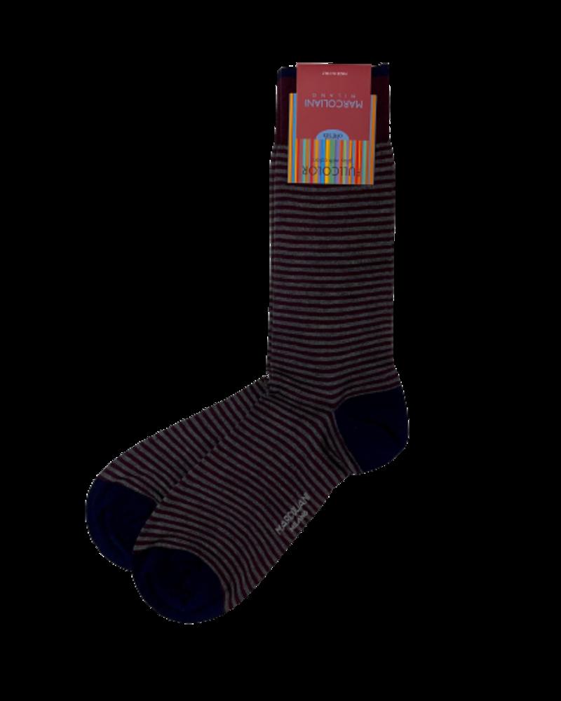 Marcoliani Marcoliani Pima Cotton Socks - Palio Stripe