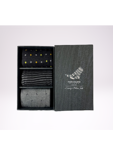 Marcoliani 3 Pack Socks Gift Box