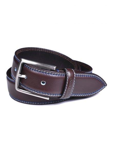 Miguel Bellido Men's Cowhide Belt with Stitching