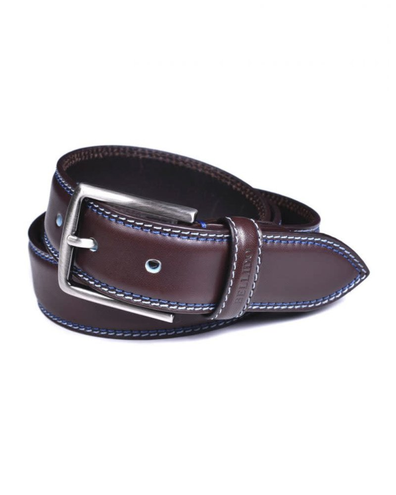 Miguel Bellido Miguel Bellido Men's Cowhide Belt with Stitching