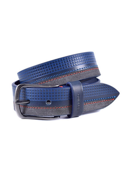 Miguel Bellido Men's Cowhide Leather/Suede Belt