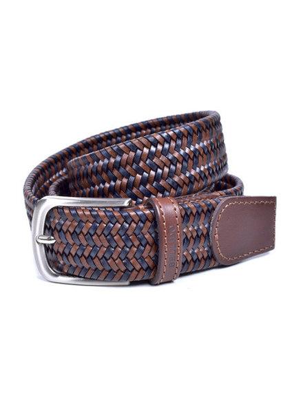 Miguel Bellido Men's Braided Leather Belt