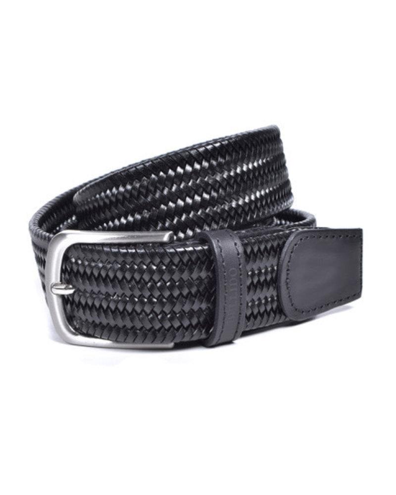 Miguel Bellido Miguel Bellido Men's Solid Braided Leather Belt