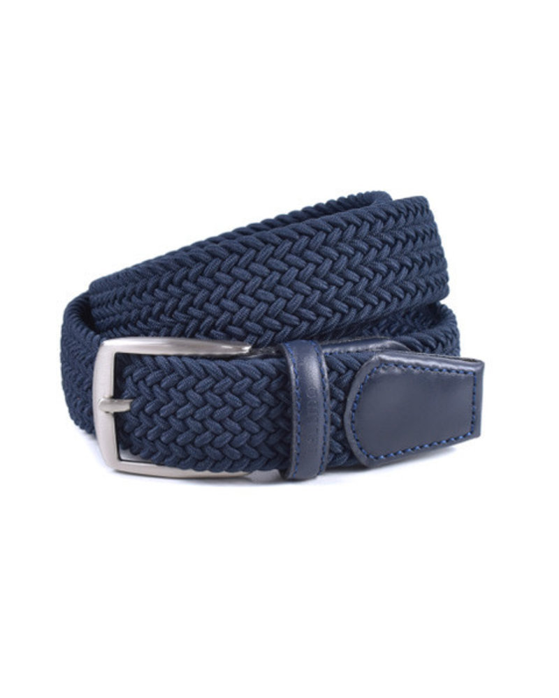 Miguel Bellido Miguel Bellido Braided Leather/Rayon Belt