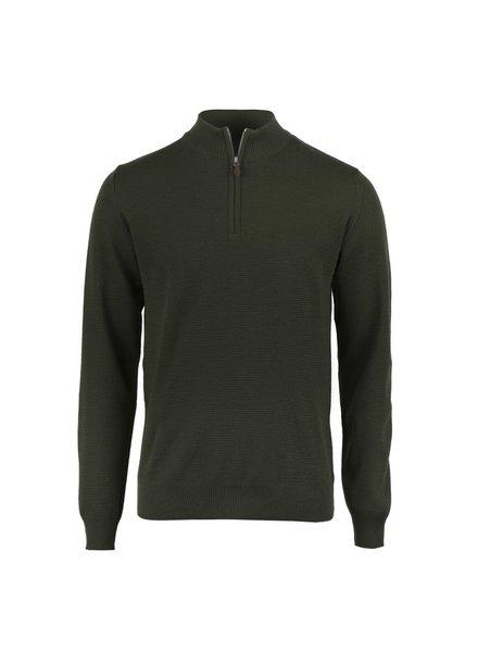 Stenstroms Textured Merino Quarter Zip Sweater