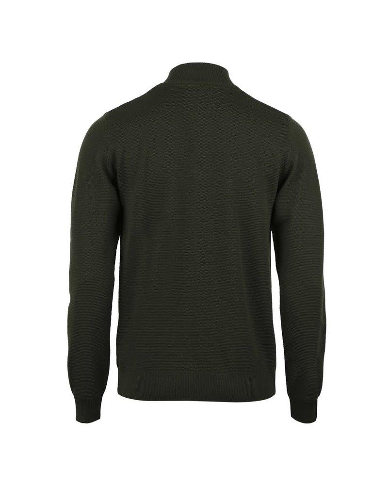Stenstroms Stenstroms Textured Merino Quarter Zip Sweater