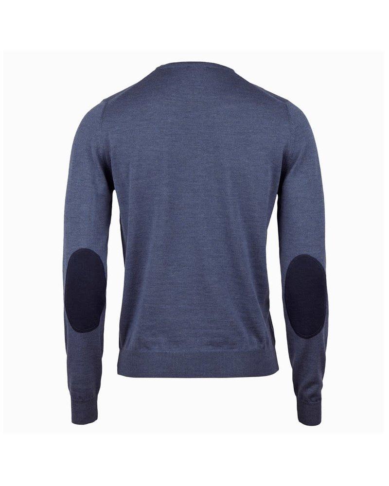 Stenstroms Stenstroms Merino V-neck Sweater With Elbow Patch