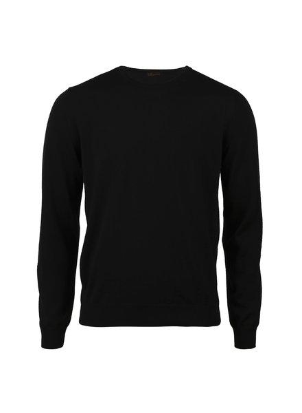 Stenstroms Merino Crew Neck Sweater With Patch