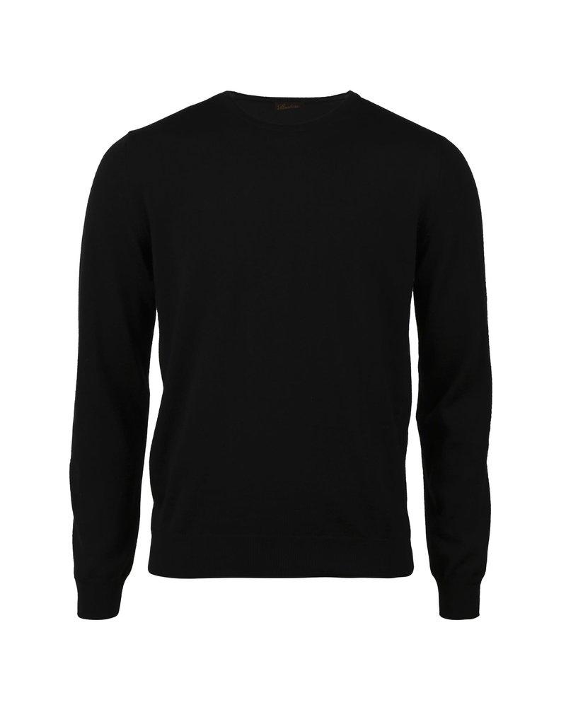 Stenstroms Stenstroms Merino Crew Neck Sweater With Patch