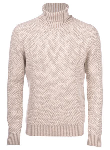 Gran Sasso Diamond Pattern Turtleneck Sweater