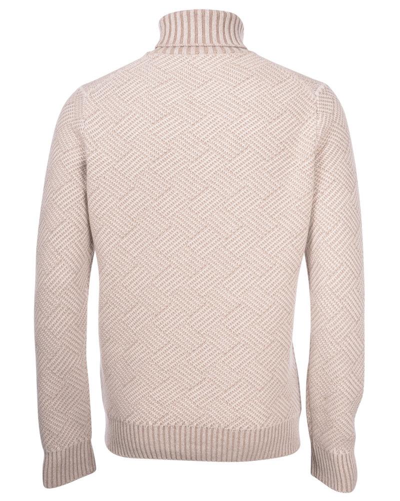 Gran Sasso Gran Sasso Diamond Pattern Turtleneck Sweater