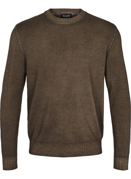 Sand Cold Dyed Crew Neck Sweater