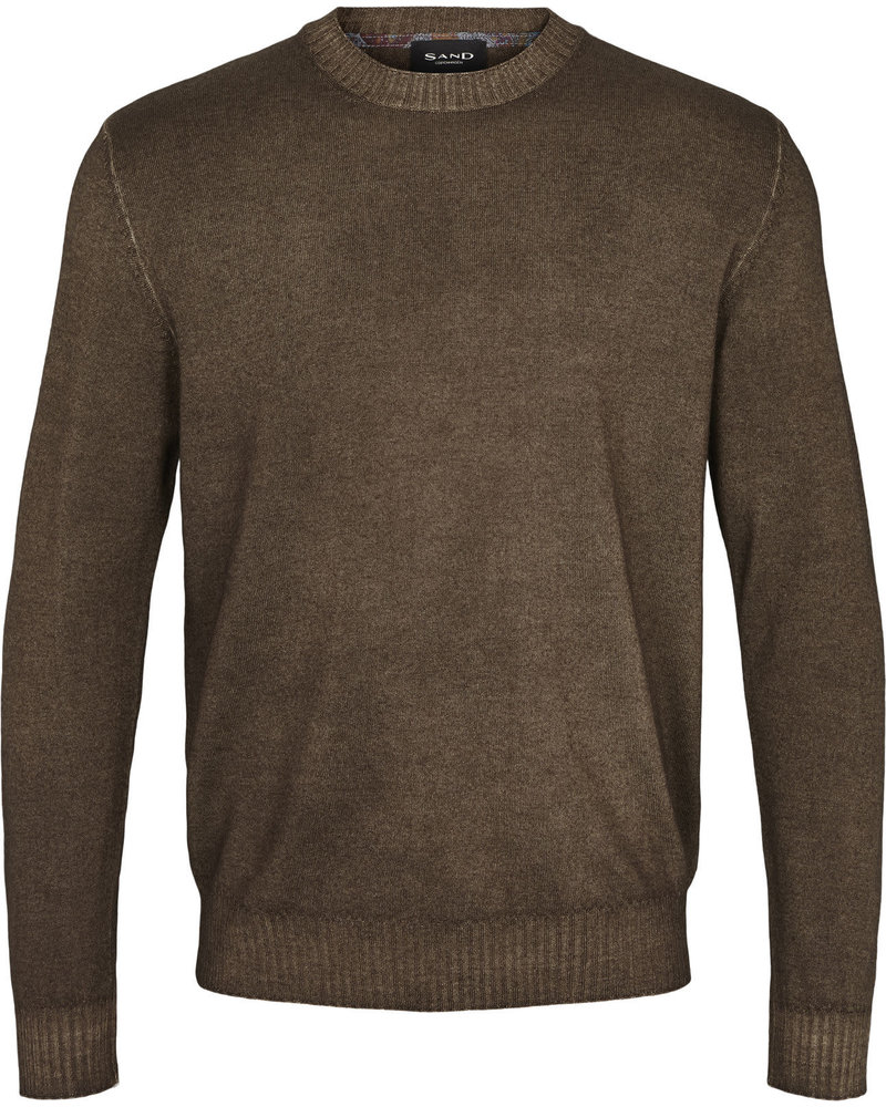 Sand Sand Cold Dyed Crew Neck Sweater