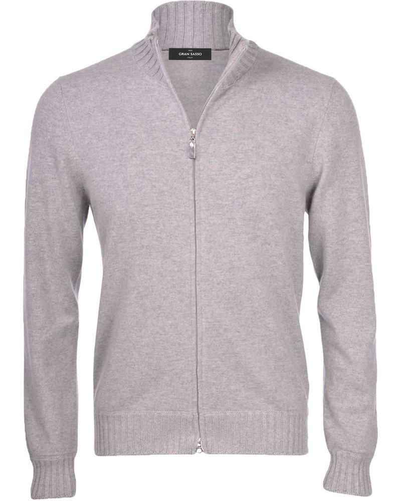 Gran Sasso Gran Sasso Ribbed Edge Full Zip Sweater