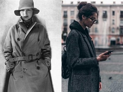 The women's long coat: a little history about it