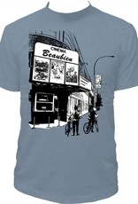 Tresnormale T-Shirt Homme Tresnormale Cinema Beaubien Bleu Gris