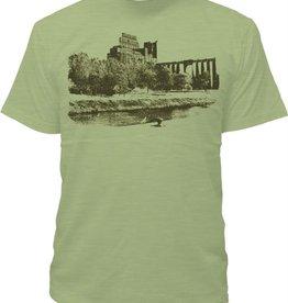 Tresnormale T-Shirt Homme Tresnormale Farine 5 Roses Vert Chine