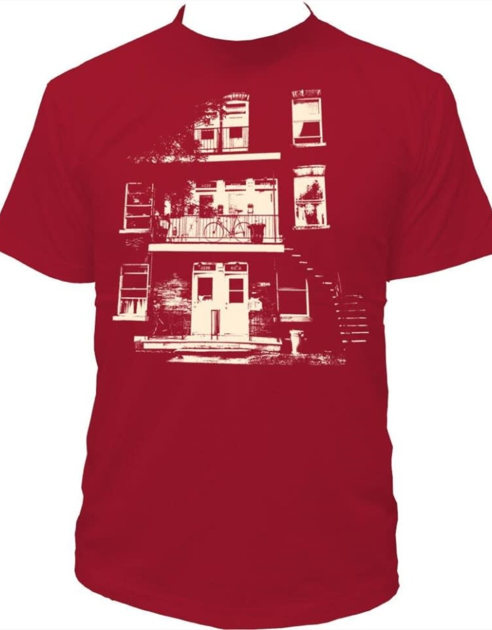 Tresnormale T-Shirt Homme Tresnormale Triplex Rouge