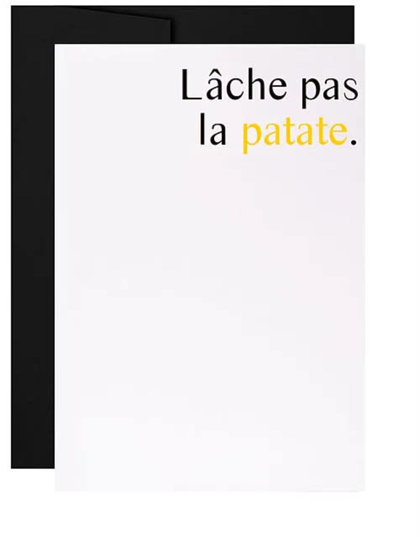 Masimto Carte Masimto Lâche pas la patate