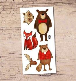 Pico Tatouage Pico Tatoo Hector le castor et ses amis